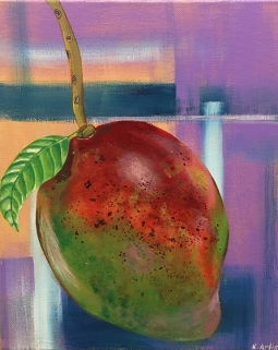 """Mango Abstraction,"" acrylic on canvas."